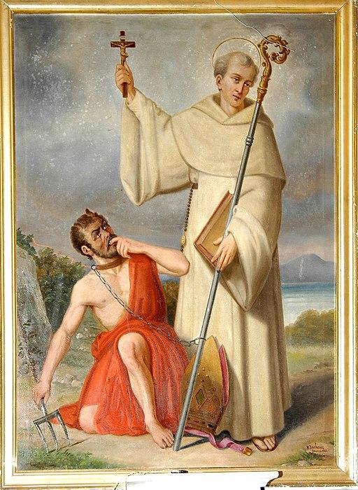 Marcello Baschenis, San Bernardo e Satana, 1885