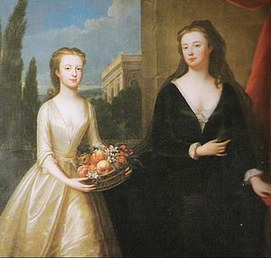 1722 in art - Image: Maria Verelst Duchess of Marlboro with Lady Diana Spencer