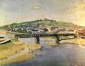 Marian Ruzamski - Most na Wiśle w Krakowie.png