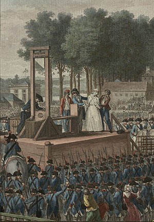 Scaffold (execution site) - Marie Antoinette before her execution on the scaffold.
