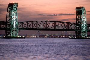 Marine Parkway–Gil Hodges Memorial Bridge - The bridge, with the Verrazano-Narrows Bridge visible in the background