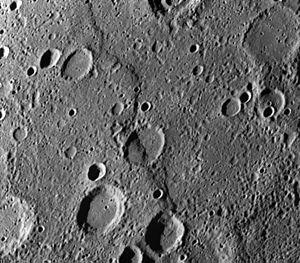 Santa María Rupes - Santa Maria Rupes, as photographed by Mariner 10