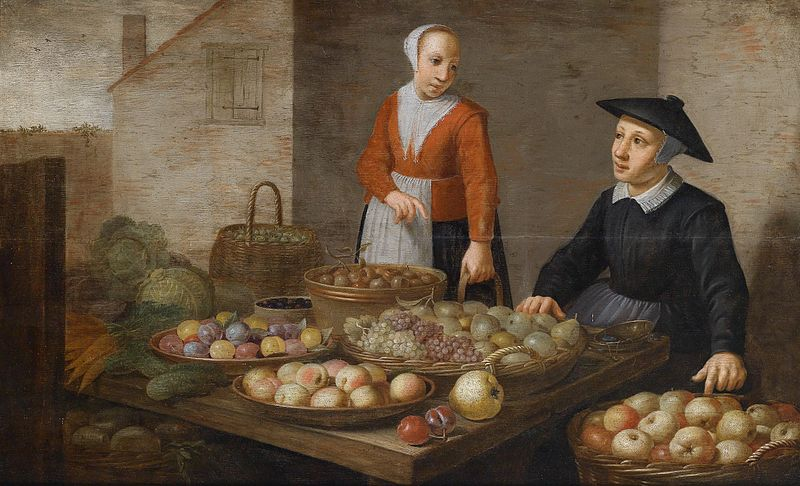 File:Market scene with two fruit sellers.jpg