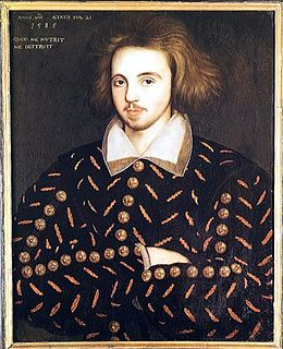 fringe theory that Cristopher Marlowe was the real author of William Shakespeare