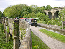 The Marple Aqueduct crossing the River Goyt Marple Aqueduct 2003.jpg