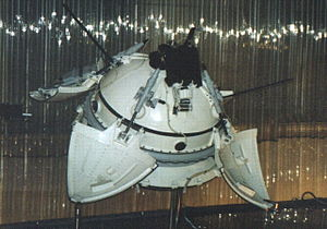 Mars 3 - Mars 3 Lander model at the Memorial Museum of Cosmonautics in Moscow