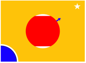 Flag of Mars - A flag design showing Mars, as a way station between Earth and the stars.