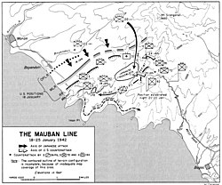 A map of northwestern Bataan in late January 1942