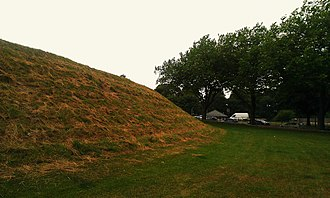 Maumbury Rings - The western ramparts of the Ring.