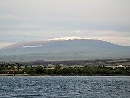 Mauna Kea har set fra havet.