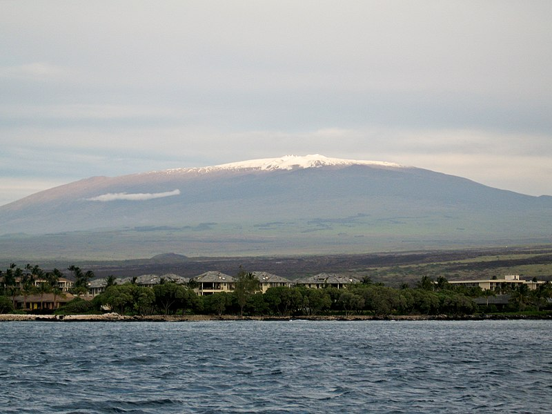 File:Mauna Kea from the ocean.jpg