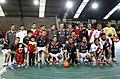 Mauricio Macri participó de un partido de fútbol con Ariel Ortega y Enzo Francéscoli (9723452045).jpg