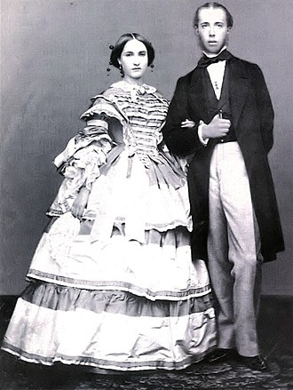 Carlota of Mexico - Photo of young Archduke Maximilian and Archduchess Charlotte