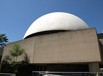 McLaughlin Planetarium - A picture of the east-facing façade of the McLaughlin Planetarium building, taken in 2008.