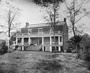 McLean House (Appomattox, Virginia) - McLean house in April 1865