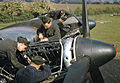 Mechanics work on the Merlin engines of a Handley Page Halifax Mk II of No. 35 Sqn at Linton-on-Ouse, 1942.jpg