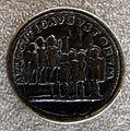 Medaglione di gallieno, 253-268, verso con adlocutio di gallieno e valeriano.JPG