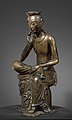 Meditating Maitreya. Gilded bronze. National Museum of Korea.jpg