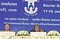 Meira Kumar addressing the 6th Editors' Conference on Social Sector Issues, jointly organised by the Press Information Bureau and the Ministry of Rural Development, in New Delhi on January 17, 2006 (1).jpg