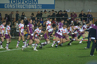 Melbourne Storm - Melbourne Storm warming up before a match in 2008