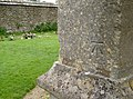 Mells church benchmark (geograph 4022335).jpg