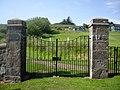 Memorial gates, Cowie kirkyard - geograph.org.uk - 1379393.jpg