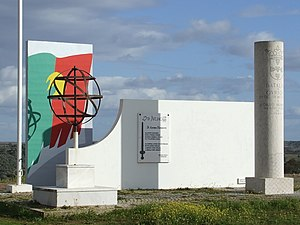 Castro Verde - The Estado Novo-era monument to the Battle of Ourique, not be confused with the commemorative pillory of the Battle of Ourique