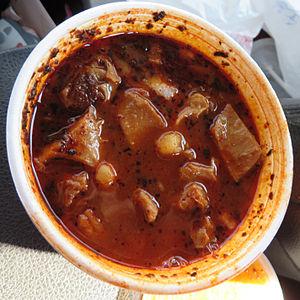 Menudo (soup) - Menudo served in Houston (2013)