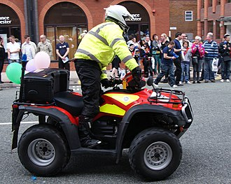Motorcycles in the United Kingdom fire services - The Merseyside fire quad-bike