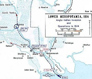 Mesopotamian campaign - 1914, Initial British offence