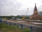 Metro Brateyevo 1 aug 2011 Church.JPG