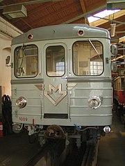 Nejstarší vlak typu Ečs v muzeu ve Vozovně Střešovice