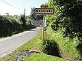 Meurival (Aisne) city limit sign.JPG