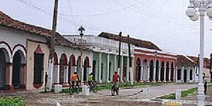 The town of Tlacotalpan, Ver.
