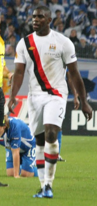 Micah Richards - Richards playing for Manchester City in 2010