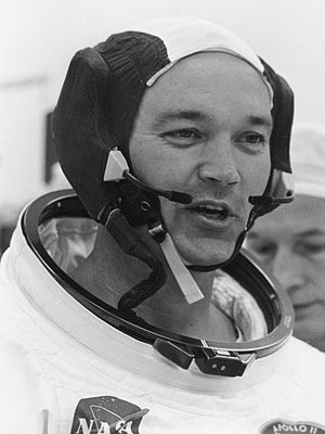 Michael Collins suiting up for the Apollo 11 f...