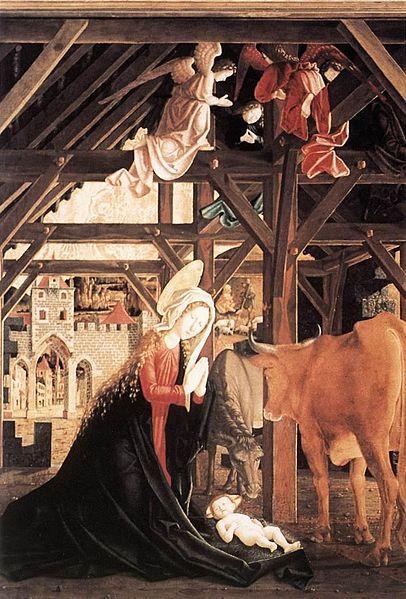 File:Michael Pacher - St Wolfgang Altarpiece - Nativity - WGA16821.jpg
