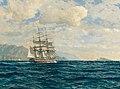 Michael Zeno Diemer - Three-Master in the Strait of Messina.jpg