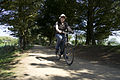 Michael cycling in Jersey 2011.jpg