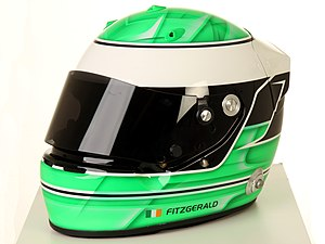 Visor - An Arai GP5 racing drivers helmet tinted visor