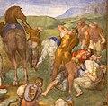 Michelangelo, conversione di saulo, 1542-45, 13.jpg