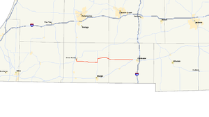 M-86 (Michigan highway) - Image: Michigan 86 map