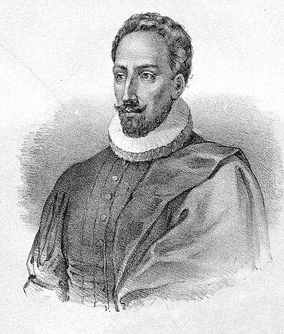 Lithograph of Miguel de Cervantes