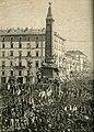 Milano inaugurazione del monumento delle Cinque Giornate (xilografia).jpg