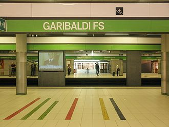 Milan Metro Line 2 - Garibaldi FS station
