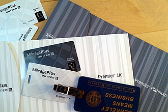 MileagePlus - United MileagePlus Premier Platinum and Premier 1K credentials and luggage tags
