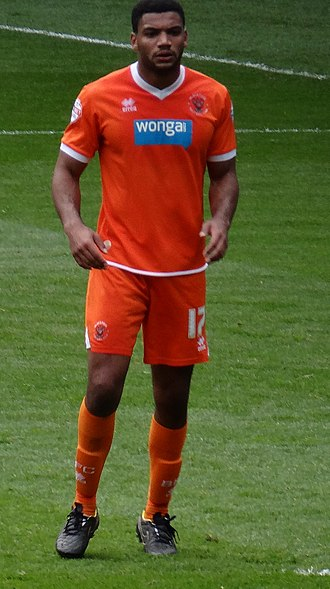 Miles Addison - Addison playing for Blackpool in 2015