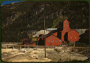 Camp Bird Mine - Mill at the Camp Bird Mine, October 1940. Photograph by Russell Lee.