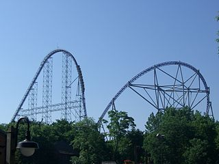 Millennium Force Steel roller coaster at Cedar Point