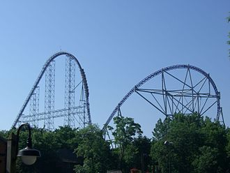 Cedar Point - Millennium Force, added in 2000, is Cedar Point's signature roller coaster.